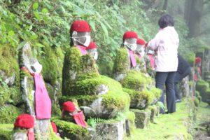 栃木の名所・旧跡:憾満ケ淵のマスクのお地蔵様