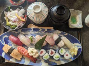 栃木の美味いもの:久松のすしランチ